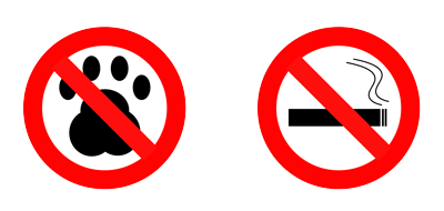 Our rooms are designed as Pet & Smoking-Free